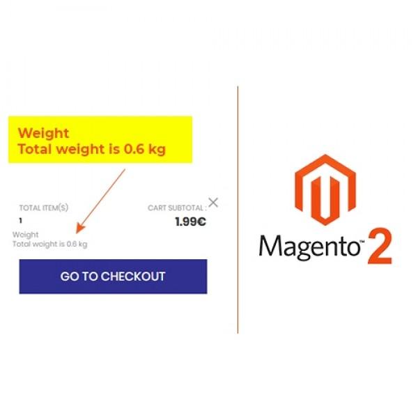 Minicart Weight Magento 2